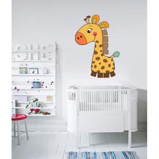 Muursticker - Interieursticker Cartoon Giraf