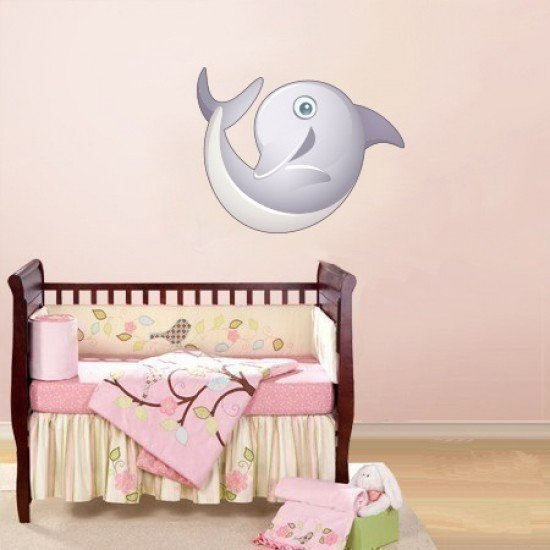 Muursticker - Interieursticker Dolfijn