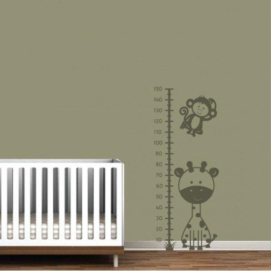 Muursticker - Interieursticker - Groeimeter Giraf Aap