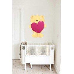 Muursticker - Interieursticker Love Bear