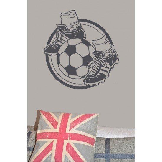 Muursticker - Interieursticker Voetbal Voetbalschoenen
