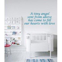 Muursticker - Muurtekst A Tiny Angel