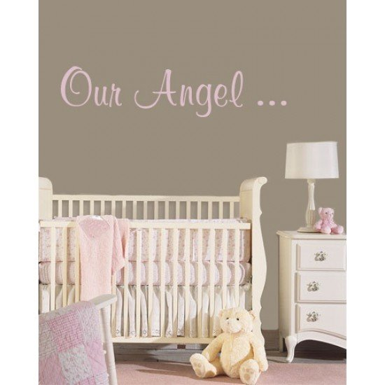 Muursticker - Muurtekst Angel