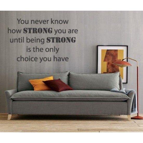 Muursticker - Muurtekst  Being Strong