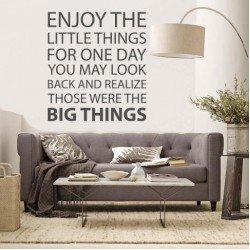 Muursticker - Muurtekst Big Things
