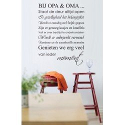 Muursticker - Muurtekst Bij Opa en Oma
