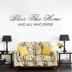 Muursticker - Muurtekst Bless this house