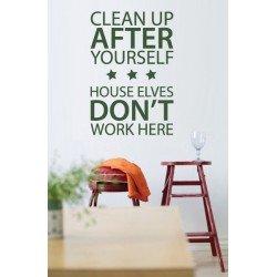Muursticker - Muurtekst  Clean Up