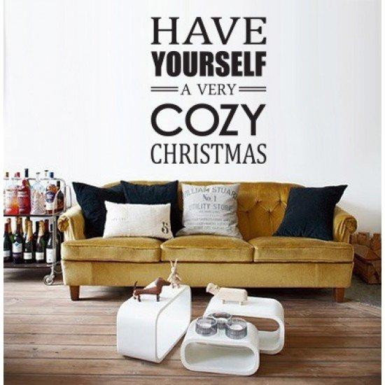 Muursticker - Muurtekst Cozy Christmas