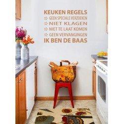 Muursticker - Muurtekst  Keuken Regels