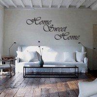 Muursticker Home Sweet Home.Muursticker Muurtekst Sweet Home