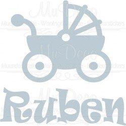 Geboortesticker Kinderwagen boven