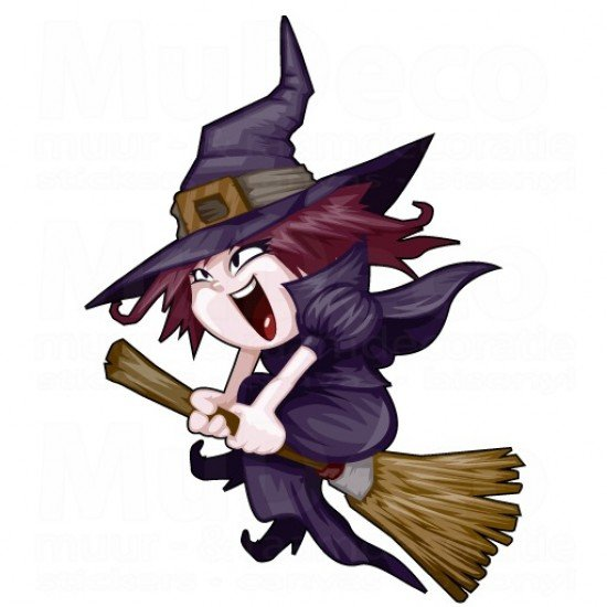 Muursticker - Halloween sticker - Heks / Witch