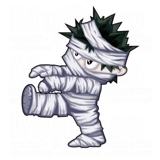 Muursticker - Halloween sticker - Mummy