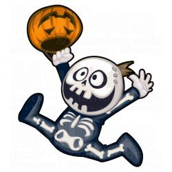 Muursticker - Halloween sticker - Skelet