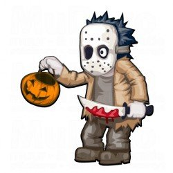 Muursticker - Halloween sticker - Zombie 2