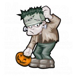 Muursticker - Halloween sticker - Zombie 3