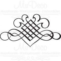 Muursticker - Interieursticker Tribal Ornament