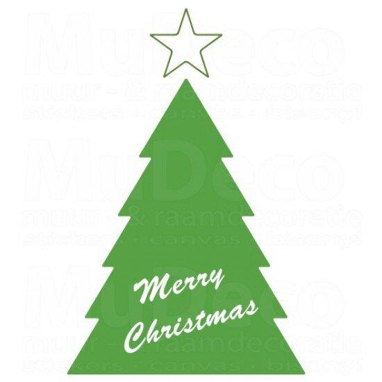 Muursticker - Kerstboom Merry Christmas