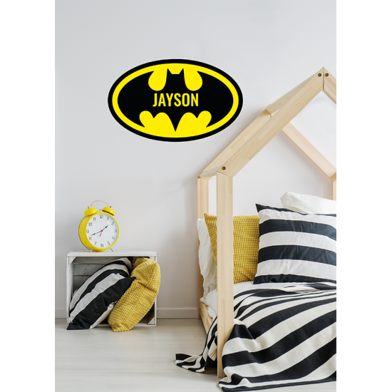 Muursticker - Interieursticker Batman kleur met naam