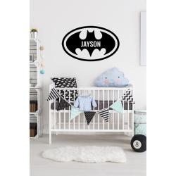 Muursticker - Interieursticker Batman met naam