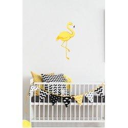 Muursticker - Interieursticker Flamingo geel