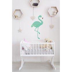 Muursticker - Interieursticker Flamingo mintgroen