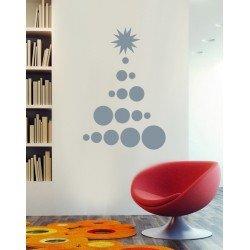 Muursticker - Interieursticker Kerst Kerstboom 4