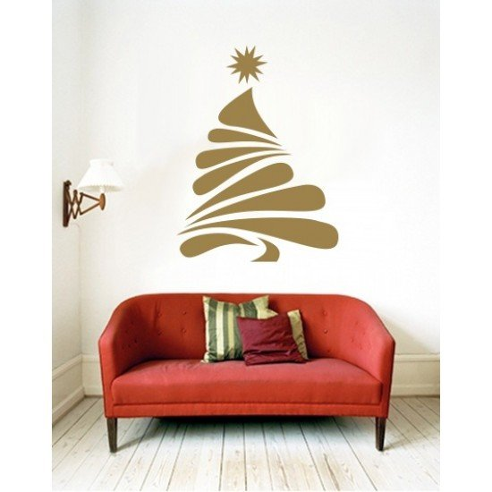 Muursticker - Interieursticker Kerst Kerstboom 5