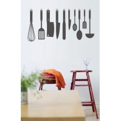 Muursticker - Interieursticker Keukengerei