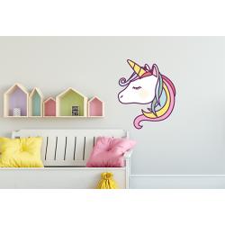 Muursticker - Interieursticker Magical unicorn