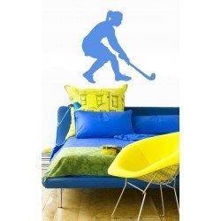 Muursticker - Interieursticker Sport Hockey Meisje 1