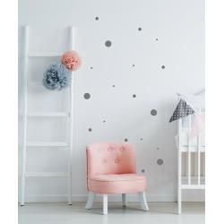 Muursticker - Interieursticker Stippen dots XL