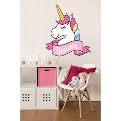 Muursticker - Interieursticker Unicorn color