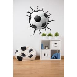Muursticker - Interieursticker Voetbal 3D