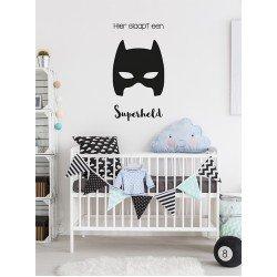 Muursticker - Muurtekst Hier slaapt een superheld