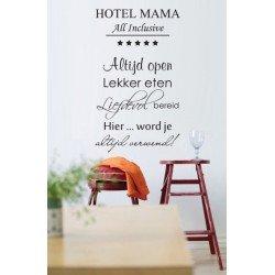 Muursticker - Muurtekst  Hotel Mama