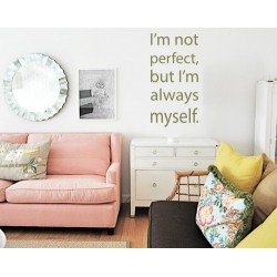 Muursticker - Muurtekst  I'm not perfect