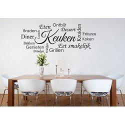 Muursticker - Muurtekst Keuken