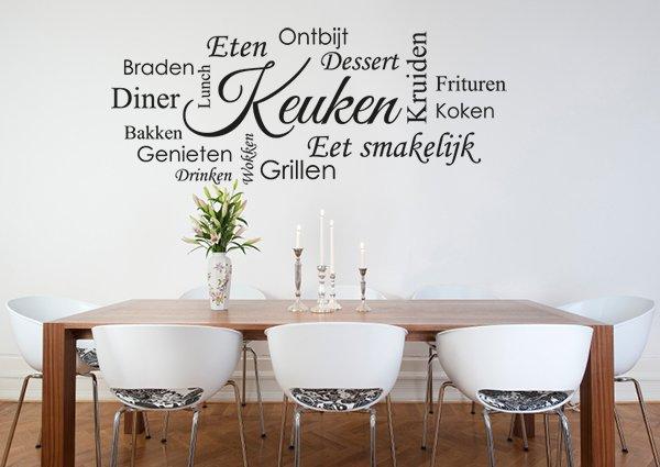 Appeltaart sticker recept muursticker keuken