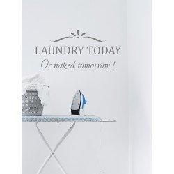 Muursticker - Muurtekst Laundry today