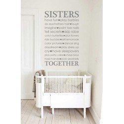 Muursticker - Muurtekst Sisters