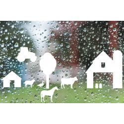 Statische - Herbruikbare stickers Boerderij dieren