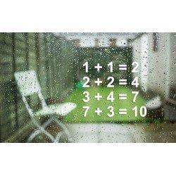 Statische - Herbruikbare stickers Leren rekenen getallen
