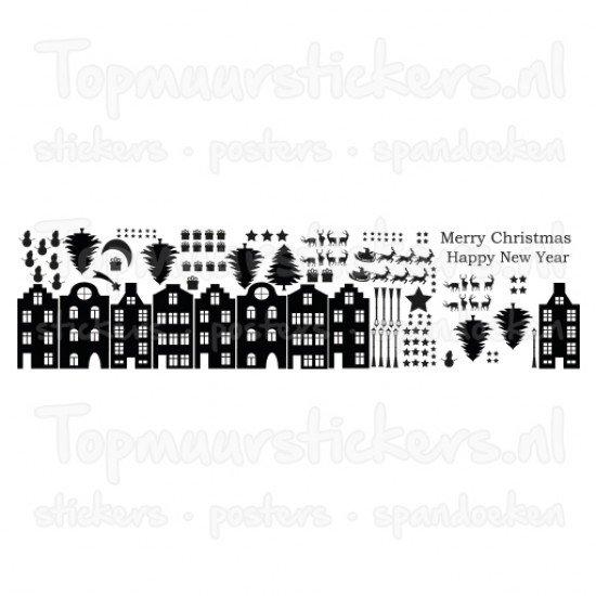 Statische raamsticker - Kerstmis XXL