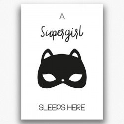 Poster - A supergirl sleeps here