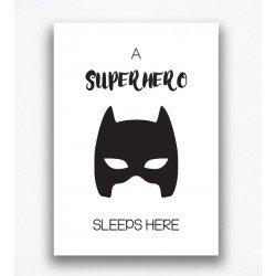 Poster - A superhero sleeps here