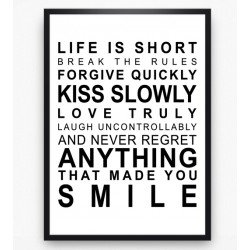 Poster - Life is short