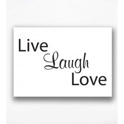 Poster - Live laugh love