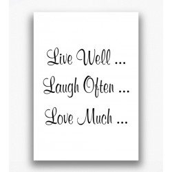 Poster - Live well